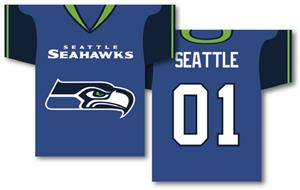 NFL Seattle Seahawks 2-Sided Jersey Banner