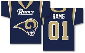 NFL St. Louis Rams 2-Sided Jersey Banner