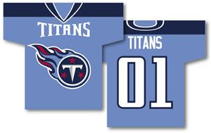 NFL Tennessee Titans 2-Sided Jersey Banner