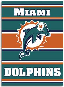 "NFL Miami Dolphins 28"" x 40"" House Banner"
