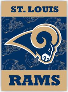 "NFL St. Louis Rams 28"" x 40"" House Banner"