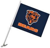 """NFL Chicago Bears 2-Sided 11"""" x 14"""" Car Flag"""