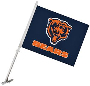 "NFL Chicago Bears 2-Sided 11"" x 14"" Car Flag"