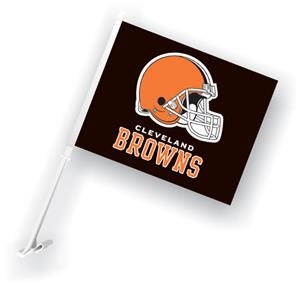 "NFL Cleveland Browns 2-Sided 11"" x 14"" Car Flag"