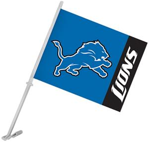 "NFL Detroit Lions 2-Sided 11"" x 14"" Car Flag"