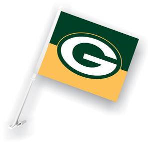 "NFL Green Bay Packers 2-Sided 11"" x 14"" Car Flag"