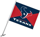 "NFL Houston Texans 2-Sided 11"" x 14"" Car Flag"