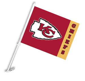 "NFL Kansas City Chiefs 2-Sided 11"" x 14"" Car Flag"