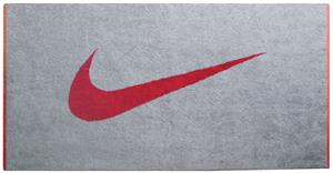 NIKE Stealth/Sport Red Sport Towel 100% Cotton