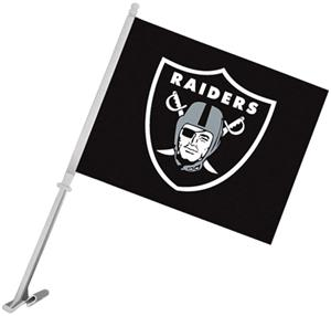 "NFL Oakland Raiders 2-Sided 11"" x 14"" Car Flag"