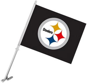 "NFL Pittsburgh Steelers 2-Sided 11"" x 14"" Car Flag"