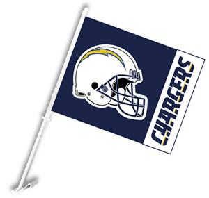 "NFL San Diego Chargers 2-Sided 11"" x 14"" Car Flag"