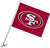 "NFL San Francisco 49ers 2-Sided 11"" x 14"" Car Flag"