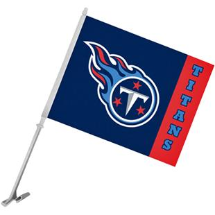 """NFL Tennessee Titans 2-Sided 11"""" x 14"""" Car Flag"""