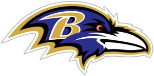 NFL Baltimore Ravens Auto Diecut Window Film