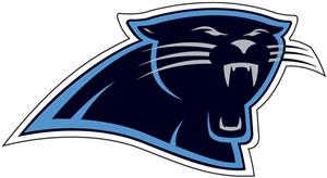 NFL Carolina Panthers Auto Diecut Window Film