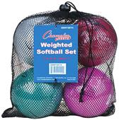 Champion Weighted Training Softballs (Set of 4)