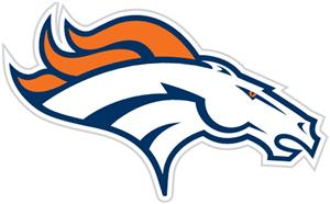 NFL Denver Broncos Auto Diecut Window Film