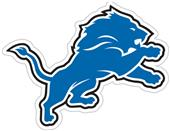 NFL Detroit Lions Auto Diecut Window Film