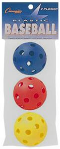 Champion Sports Plastic Baseballs (Package of 3)