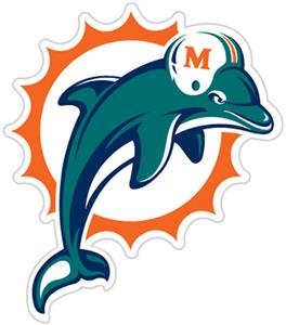 NFL Miami Dolphins Auto Diecut Window Film