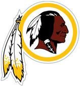 NFL Washington Redskins Auto Diecut Window Film