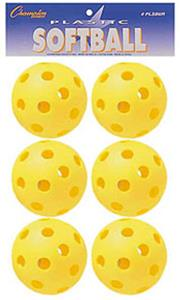 Champion Sports Plastic Yellow Softballs