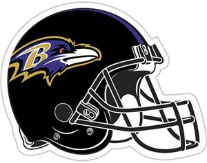 "NFL Baltimore Ravens 12"" Die Cut Car Magnet"