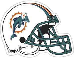 "NFL Miami Dolphins 12"" Die Cut Car Magnet"