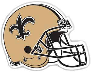 "NFL New Orleans Saints 12"" Die Cut Car Magnet"