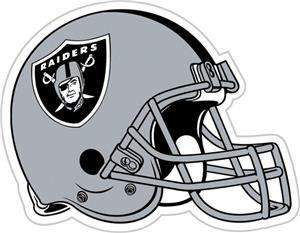 "NFL Oakland Raiders 12"" Die Cut Car Magnet"