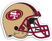 "NFL San Francisco 49ers 12"" Die Cut Car Magnet"