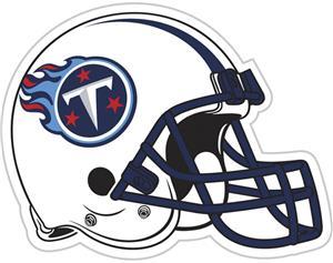 """NFL Tennessee Titans 12"""" Die Cut Car Magnet"""
