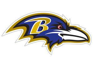 "NFL Baltimore Ravens Logo 12"" Die Cut Car Magnet"