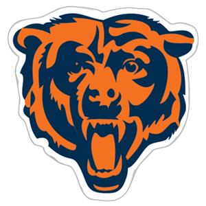 NFL Chicago Bears Logo 12&quot; Die Cut Car Magnet