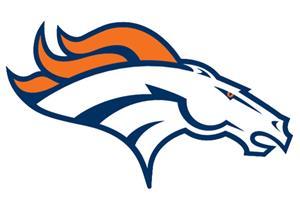 """NFL Denver Broncos Logo 12"""" Die Cut Car Magnet"""