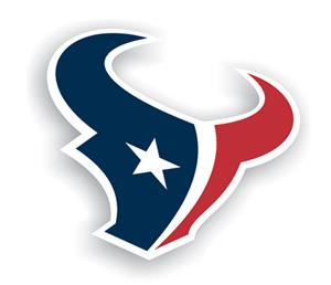 "NFL Houston Texans Logo 12"" Die Cut Car Magnet"
