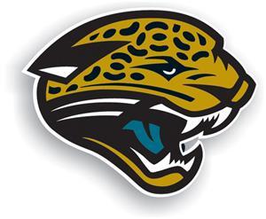 "NFL Jaguars Logo 12"" Die Cut Car Magnet"