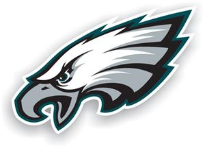 "NFL Philadelphia Eagle Logo 12"" Die Cut Car Magnet"