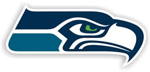 "NFL Seattle Seahawks Logo 12"" Die Cut Car Magnet"