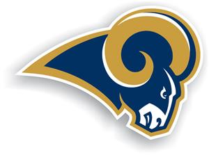 "NFL St. Louis Rams Logo 12"" Die Cut Car Magnet"