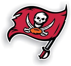 """NFL Buccaneers Logo 12"""" Die Cut Car Magnet"""