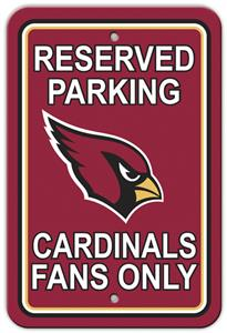 BSI NFL Arizona Cardinals Reserved Parking Sign