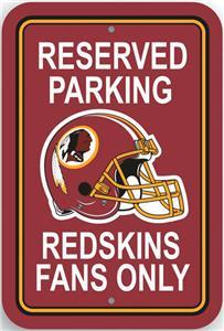 BSI NFL Washington Redskins Reserved Parking Sign