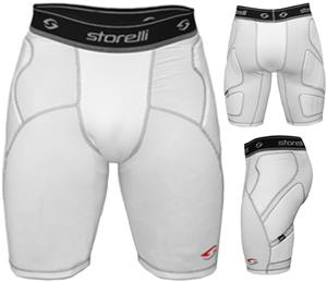 Storelli Sports BodyShield White Slider Shorts