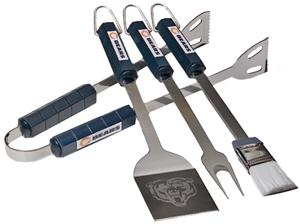 NFL Chicago Bears 4 Piece BBQ Grilling Set