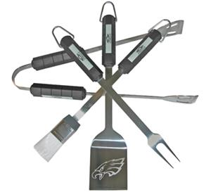 NFL Philadelphia Eagles 4 Piece BBQ Grilling Set