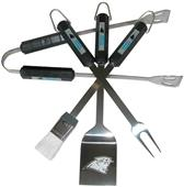 NFL Carolina Panthers 4 Piece BBQ Grilling Set