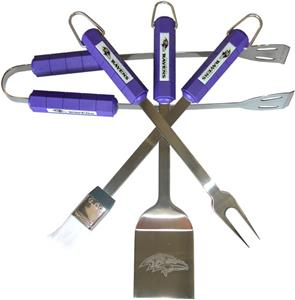 NFL Baltimore Ravens 4 Piece BBQ Grilling Set