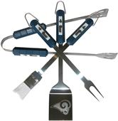 NFL St. Louis Rams 4 Piece BBQ Grilling Set